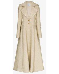 Rosie Assoulin A Line Lapel Coat - Metallic