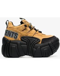 Vetements - X Swear Camel And Black 100 Leather Combat Trainers - Lyst