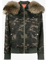 Mr & Mrs Italy - Camouflage Print Hooded Jacket - Lyst