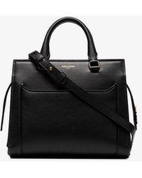 Saint Laurent - Black Eastside Baby Cabas Dual Handle Shoulder Bag - Lyst