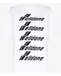 we11done Logo Print T-shirt - White