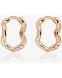 Sabine G - 18k Rose Gold Wave Huggie Hoops - Lyst