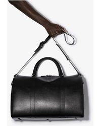 Canali Black Weekend Leather Holdall