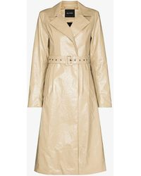 Daily Paper Kedoun Faux Leather Trench Coat - Natural