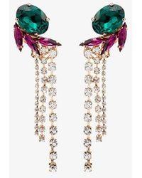 Anton Heunis Multicoloured Crystal Tassel Drop Earrings