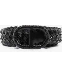 Totême Braided Leather Belt - - Leather - Black