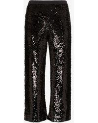 Figue Verushka Sequinned Trousers - Black