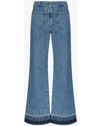 JW Anderson Patch Pocket Flared Jeans - Blue