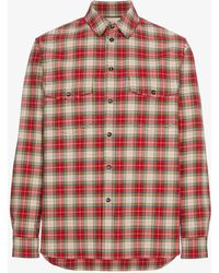 Gucci - Embroidered Vintage Checked Shirt - Lyst
