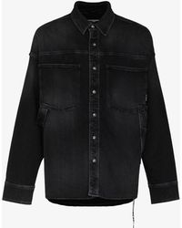 Mastermind Japan Mastermind World Light Oz Denim Shirt - Black