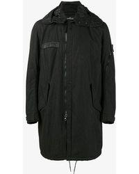 Stone Island Fishtail Parka Coat - Black