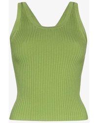 Matériel Ribbed Knit Tank Top - Green