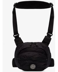 Stone Island Black Reflective Ripstop Cross Body Bag