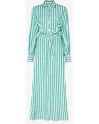 Evi Grintela Lily Striped Shirt Dress - Green