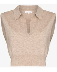 Reformation Gezim Recycled Cashmere Sweater Vest - Natural