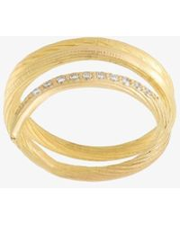 Orit Elhanati Ladies 18karat Yellow Gold 'fish Tale' Diamond Ring, Size: 54 - Metallic