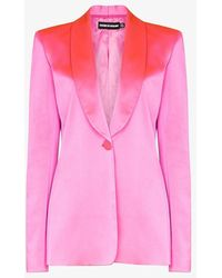 House of Holland Tailored Shawl-lapel Blazer - Pink