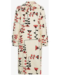 Marni - Drawing Print Coat - Lyst