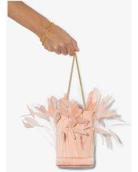 Vanina L'envol Feather Bucket Bag - Pink