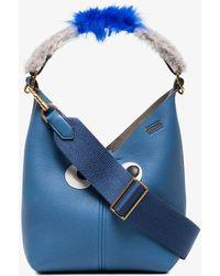 Anya Hindmarch | Blue Build A Bag Creature Mini Leather Bucket Bag | Lyst