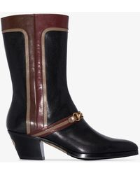 Gucci Black Zhara Cuban High Leather Boots
