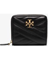 Tory Burch Kira Leather Bifold Wallet - - Leather - Black