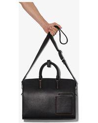 Ermenegildo Zegna Grained Leather Holdall Bag - Black