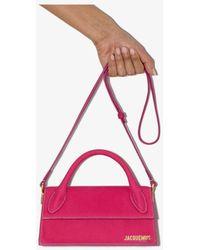 Jacquemus Le Chiquito Long Suede Top Handle Bag - Pink