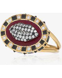 Holly Dyment | 18k Yellow Gold Glam Lip Diamond Ring | Lyst