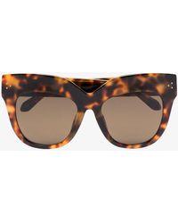 Linda Farrow - Dunaway Oversized Tortoiseshell Frame Sunglasses - - Acrylic - Lyst