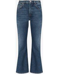 Totême Cropped Kick Flared Jeans - Blue