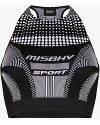 MISBHV Logo Halterneck Sports Bra - Black