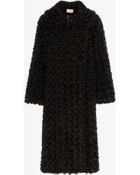 Christopher Kane Reversible Faux Fur Coat - Black