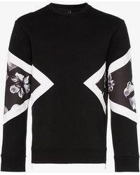 Neil Barrett - Floral Insert Sweatshirt - Lyst