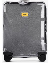 Crash Baggage Share Transparent Rolling Cabin Bag - White