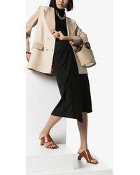 Rejina Pyo Leah 60 Wooden Heel Sandals - Brown
