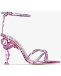 Sophia Webster Flamingo 100 Leather Sandals - Pink
