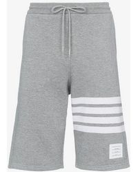 Thom Browne - Striped Cotton Jersey Shorts - Lyst