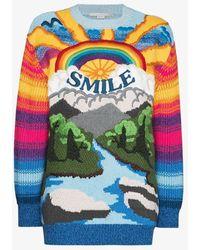 Stella McCartney Smile Rainbow Jumper - Blue