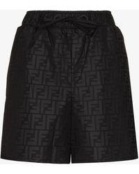 Fendi Ff Motif Track Shorts - Black