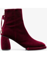 Reike Nen - Burgundy 80 Velvet Ankle Boots - Lyst