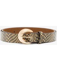 Rejina Pyo Green Moon Snake Print Leather Belt
