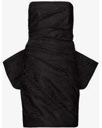 Solace London Posie Ruffed Mini Dress - Black