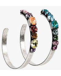 DANNIJO - Rainbow Hoop Earrings - Lyst