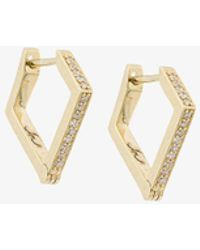 Lizzie Mandler - 18kt Gold 'huggies' Diamond Earrings - Lyst
