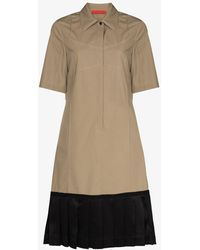 Commission Panelled Tennis Dress - Natural