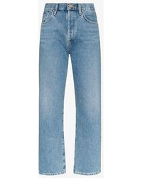 Goldsign High-rise Straight Leg Jeans - Blue