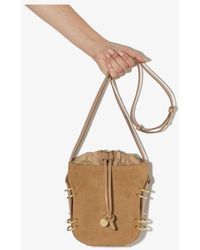 See By Chloé Alvy Suede Leather Bucket Bag - Brown