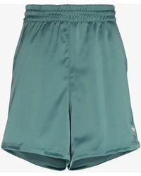 adidas 3-stripe Track Shorts - Green