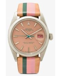 La Californienne Vintage Rolex Date Stainless Steel Watch - Multicolour